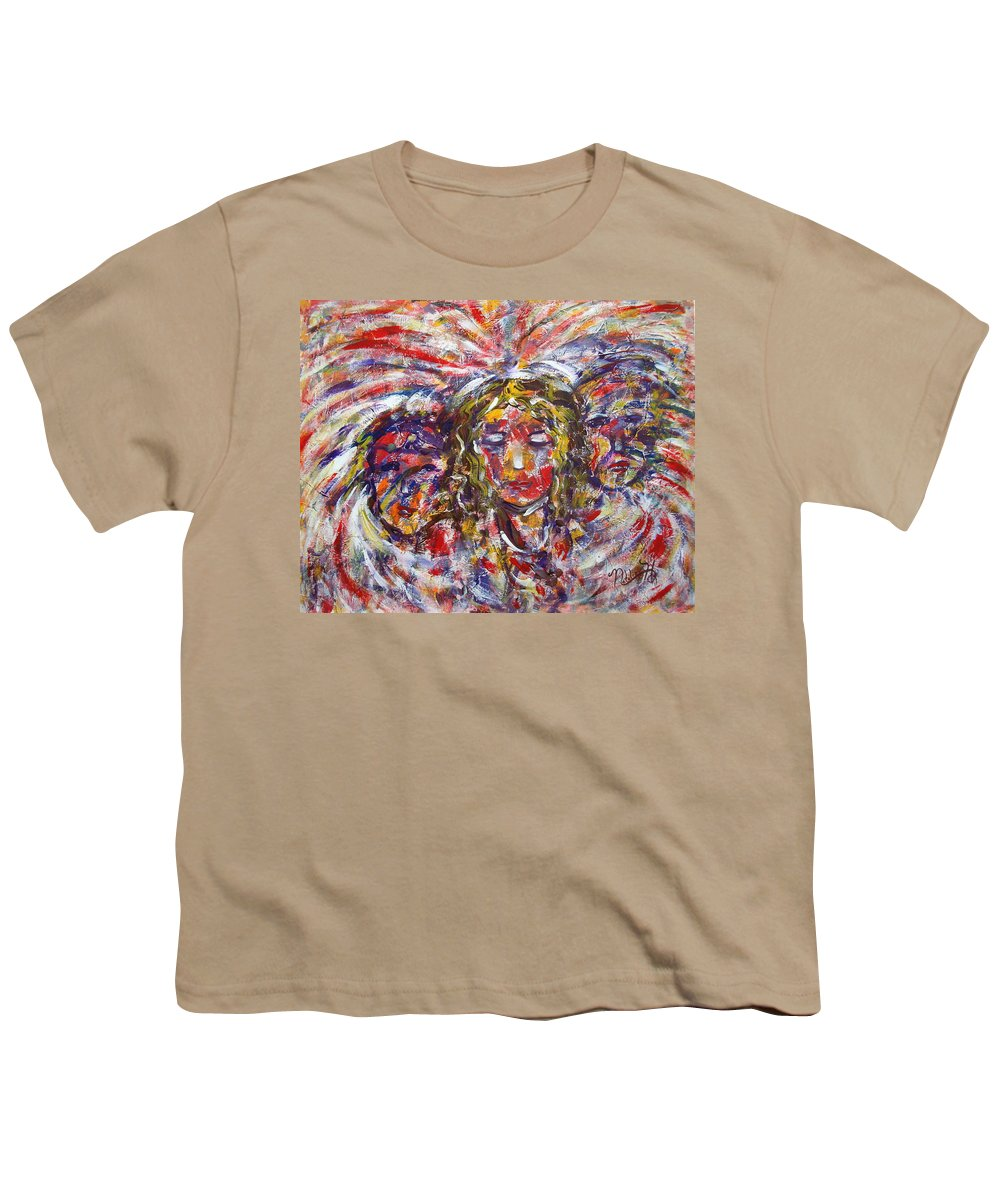 Woman Youth T-Shirt featuring the painting Faith Hope And Love by Natalie Holland