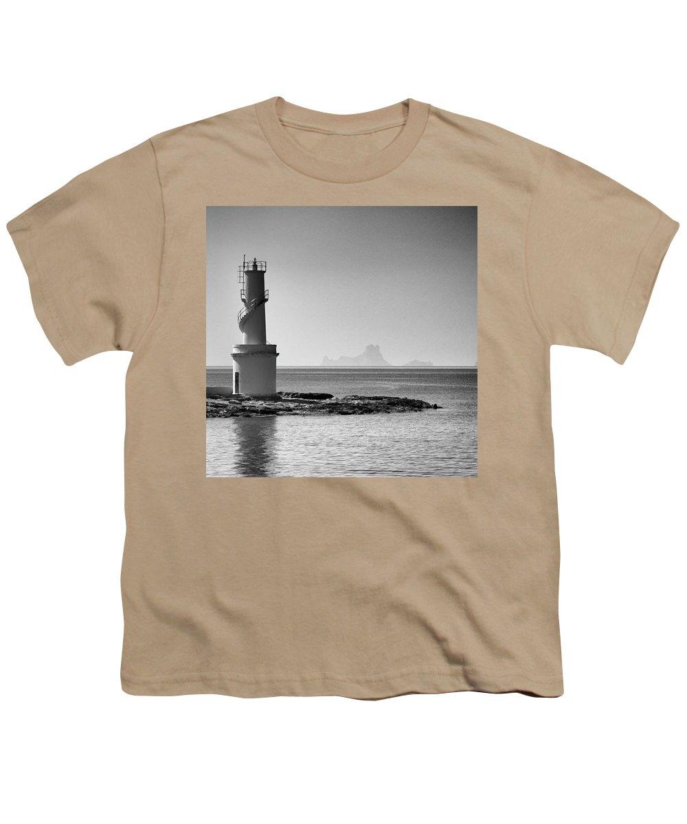 Balearics Youth T-Shirt featuring the photograph Far De La Savina Lighthouse, Formentera by John Edwards