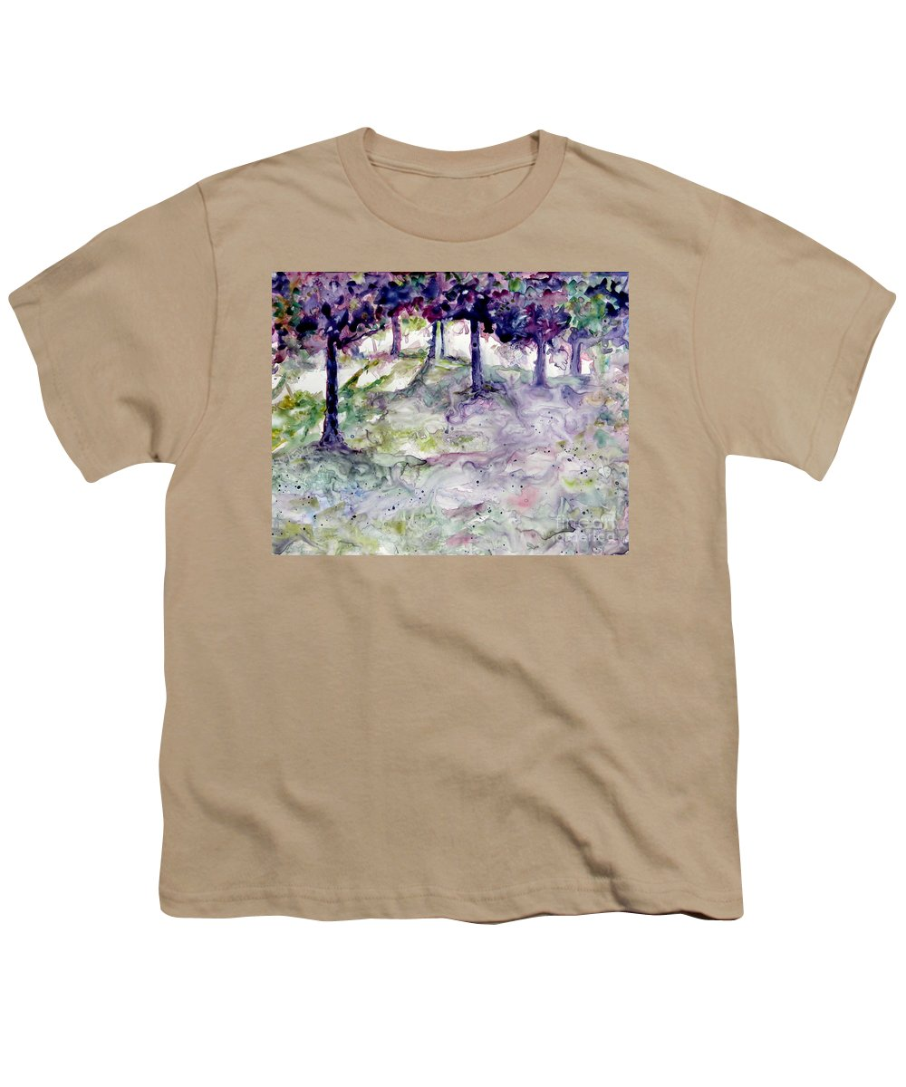 Fastasy Youth T-Shirt featuring the painting Forest Fantasy by Jan Bennicoff