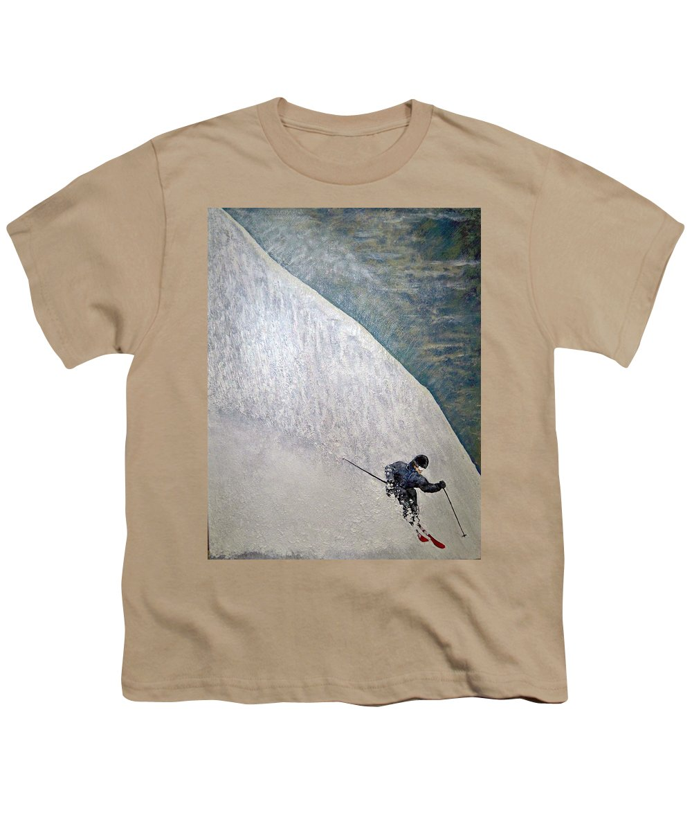 Landscape Youth T-Shirt featuring the painting Form by Michael Cuozzo
