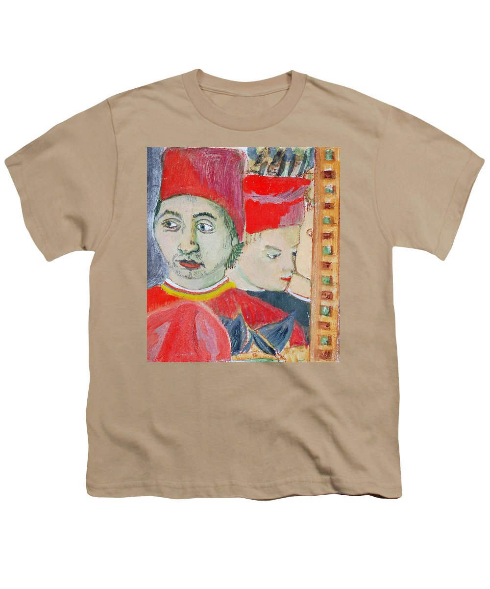 Italian Youth T-Shirt featuring the painting Fratello by Kurt Hausmann