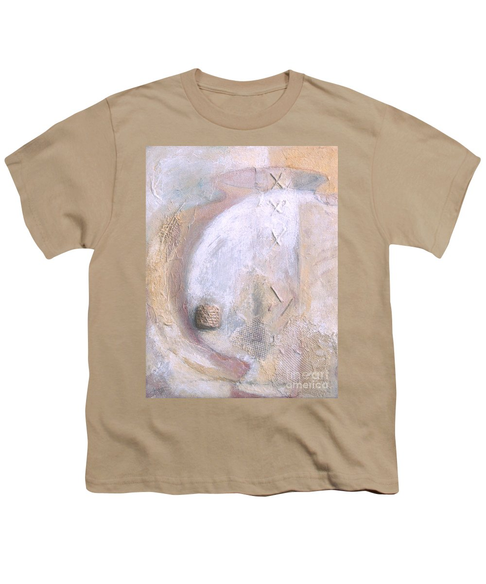 Collage Youth T-Shirt featuring the painting Give And Receive by Kerryn Madsen-Pietsch