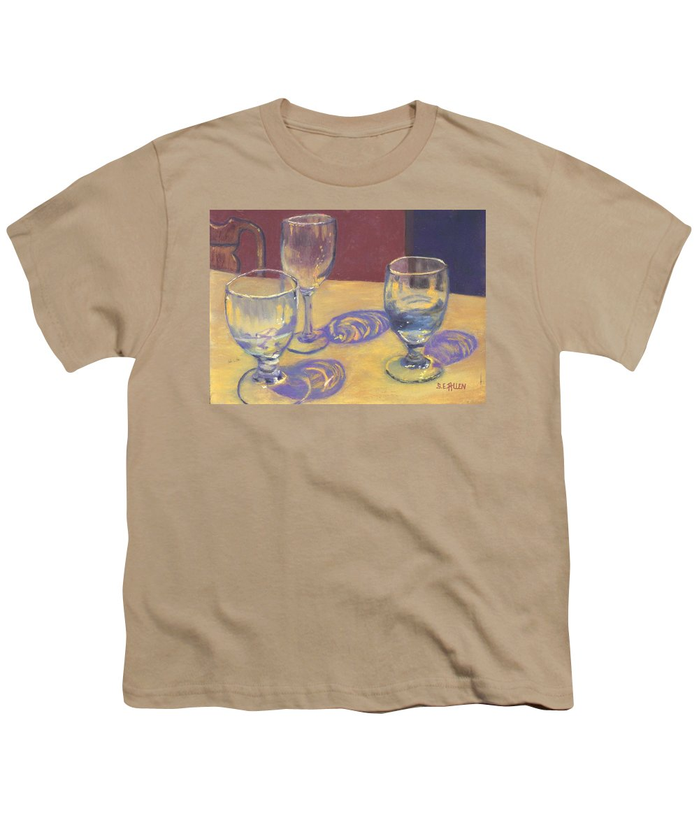 Glasses Youth T-Shirt featuring the painting Glasslights by Sharon E Allen