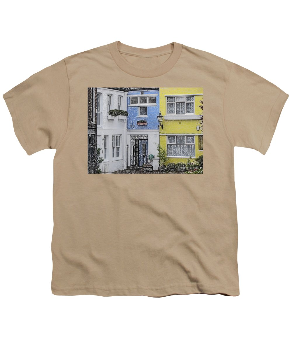 House Youth T-Shirt featuring the photograph Houses by Amanda Barcon