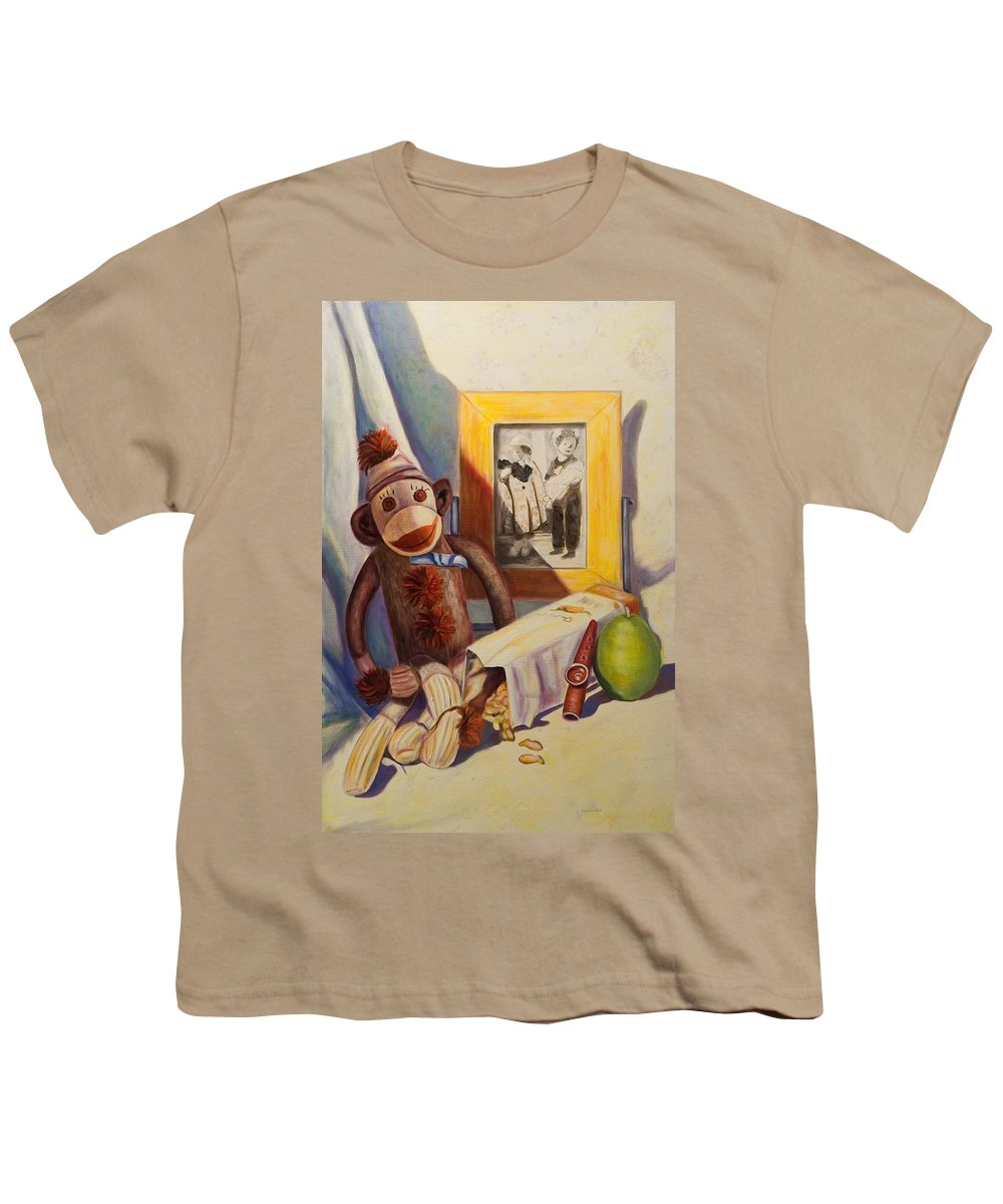 Children Youth T-Shirt featuring the painting I Will Remember You by Shannon Grissom