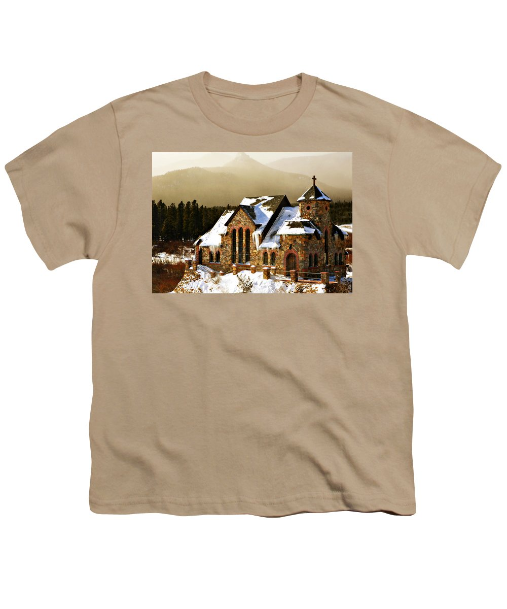 Americana Youth T-Shirt featuring the photograph Icicles by Marilyn Hunt