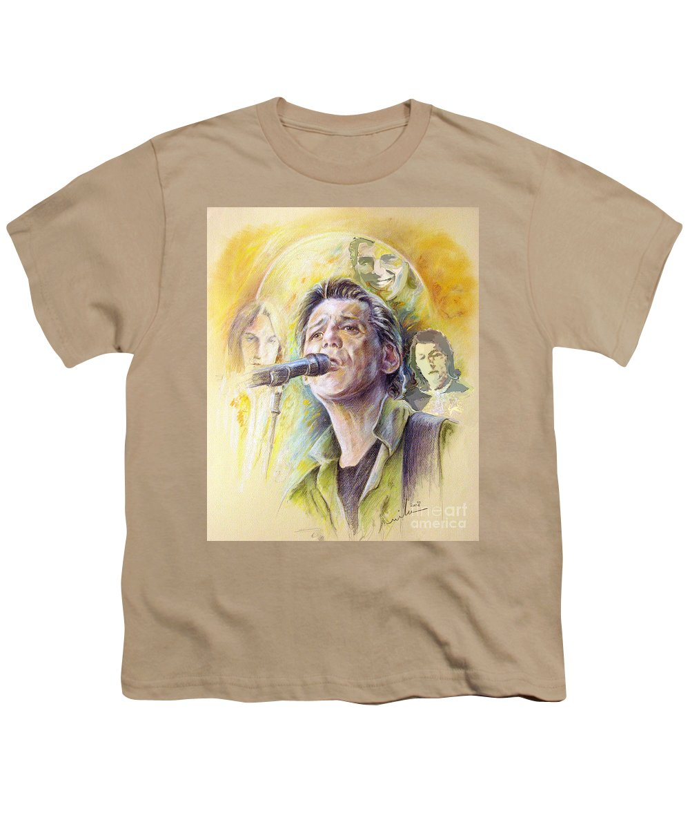 Jeff Christie Youth T-Shirt featuring the painting Jeff Christie by Miki De Goodaboom