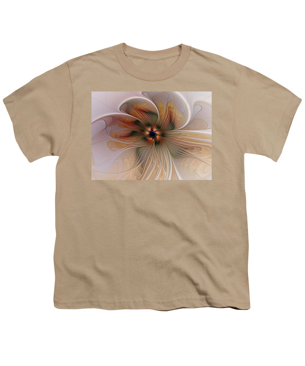Digital Art Youth T-Shirt featuring the digital art Just Peachy by Amanda Moore