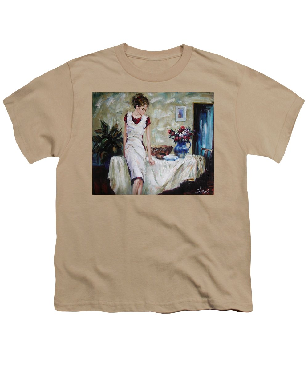 Figurative Youth T-Shirt featuring the painting Just The Next Day by Sergey Ignatenko