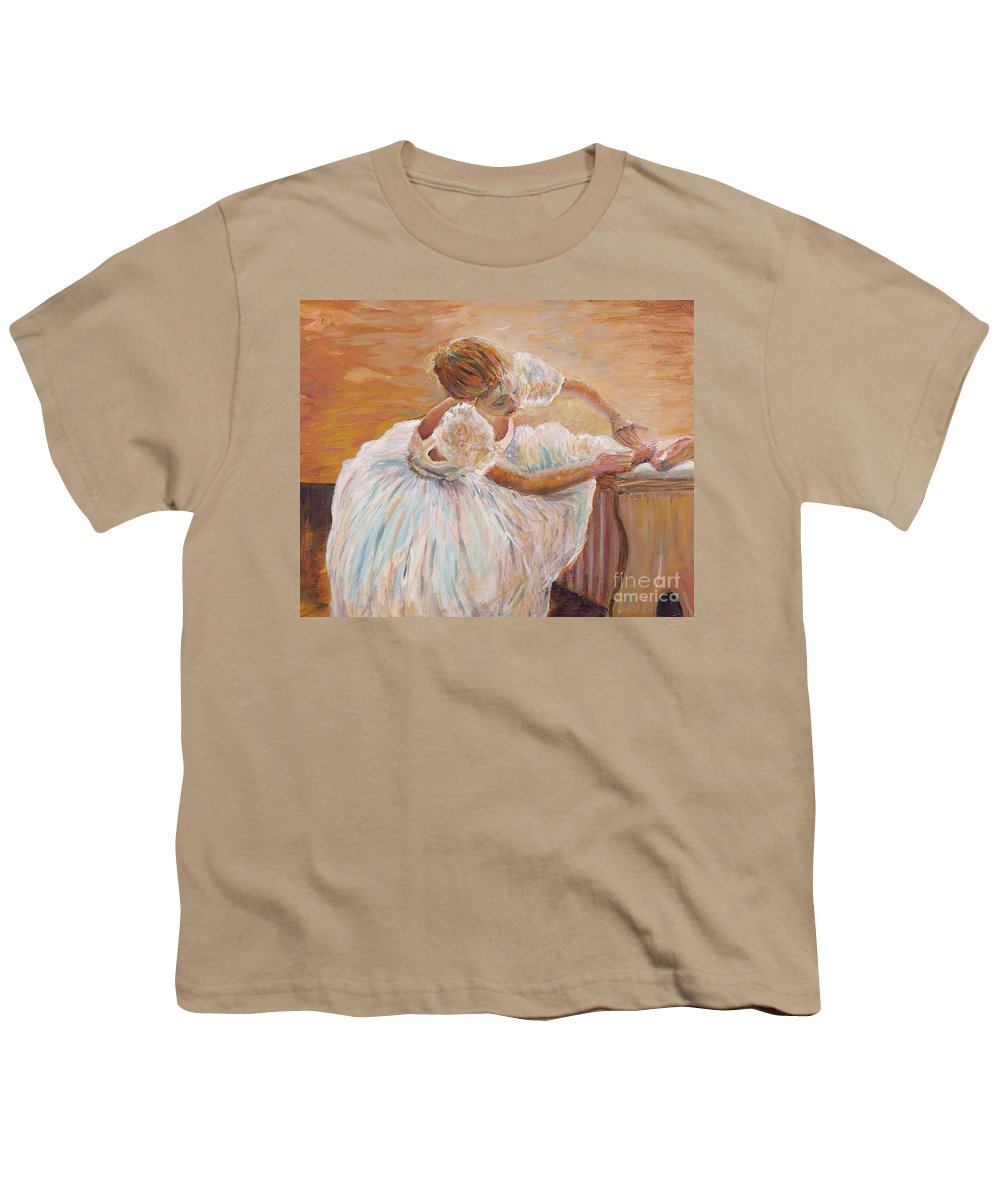 Dancer Youth T-Shirt featuring the painting Kaylea by Nadine Rippelmeyer