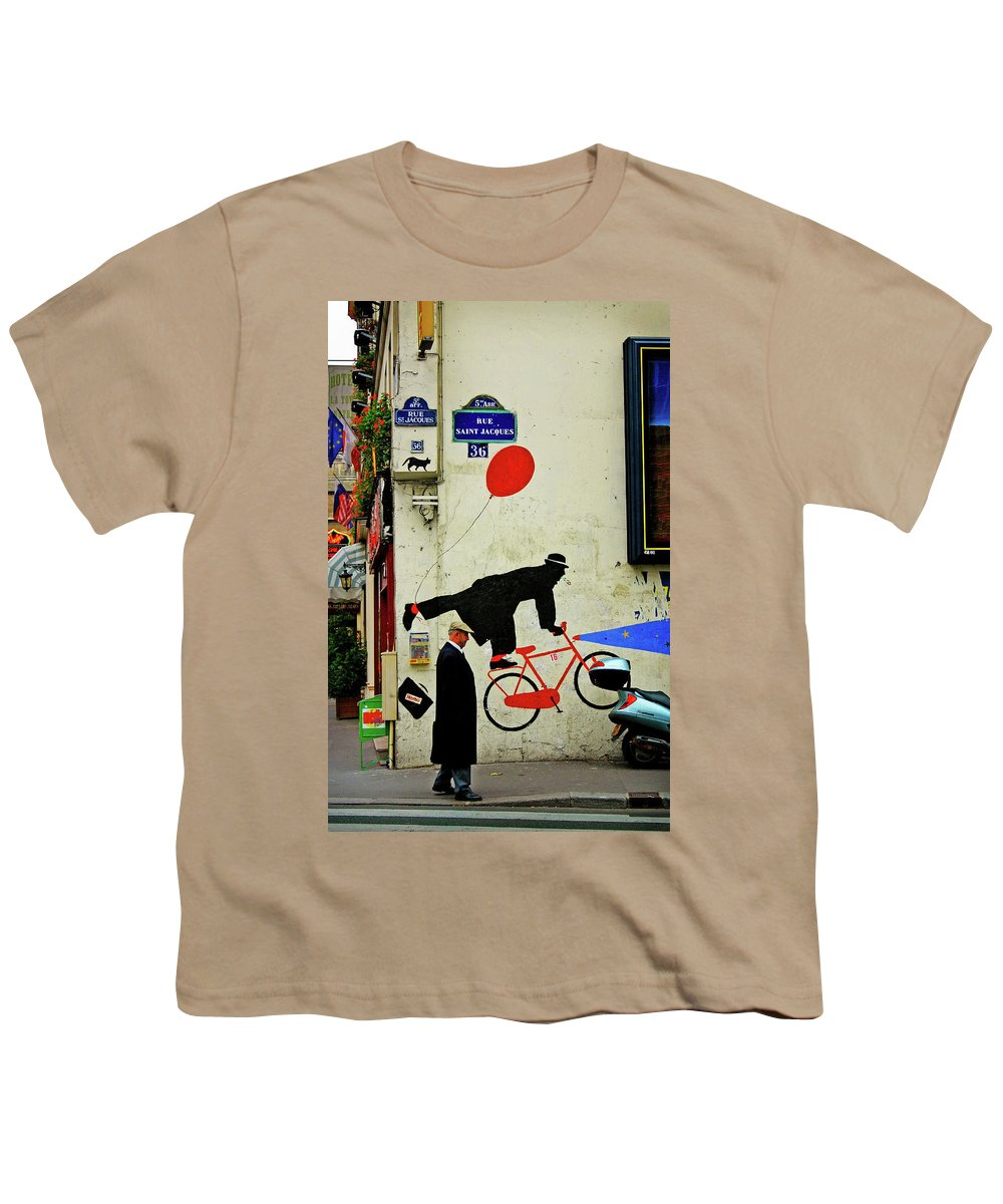 Paris Youth T-Shirt featuring the photograph Kick In The Head by Skip Hunt