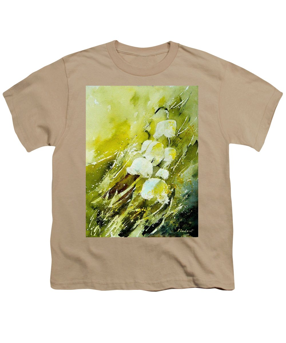 Flowers Youth T-Shirt featuring the painting Lilly Of The Valley by Pol Ledent