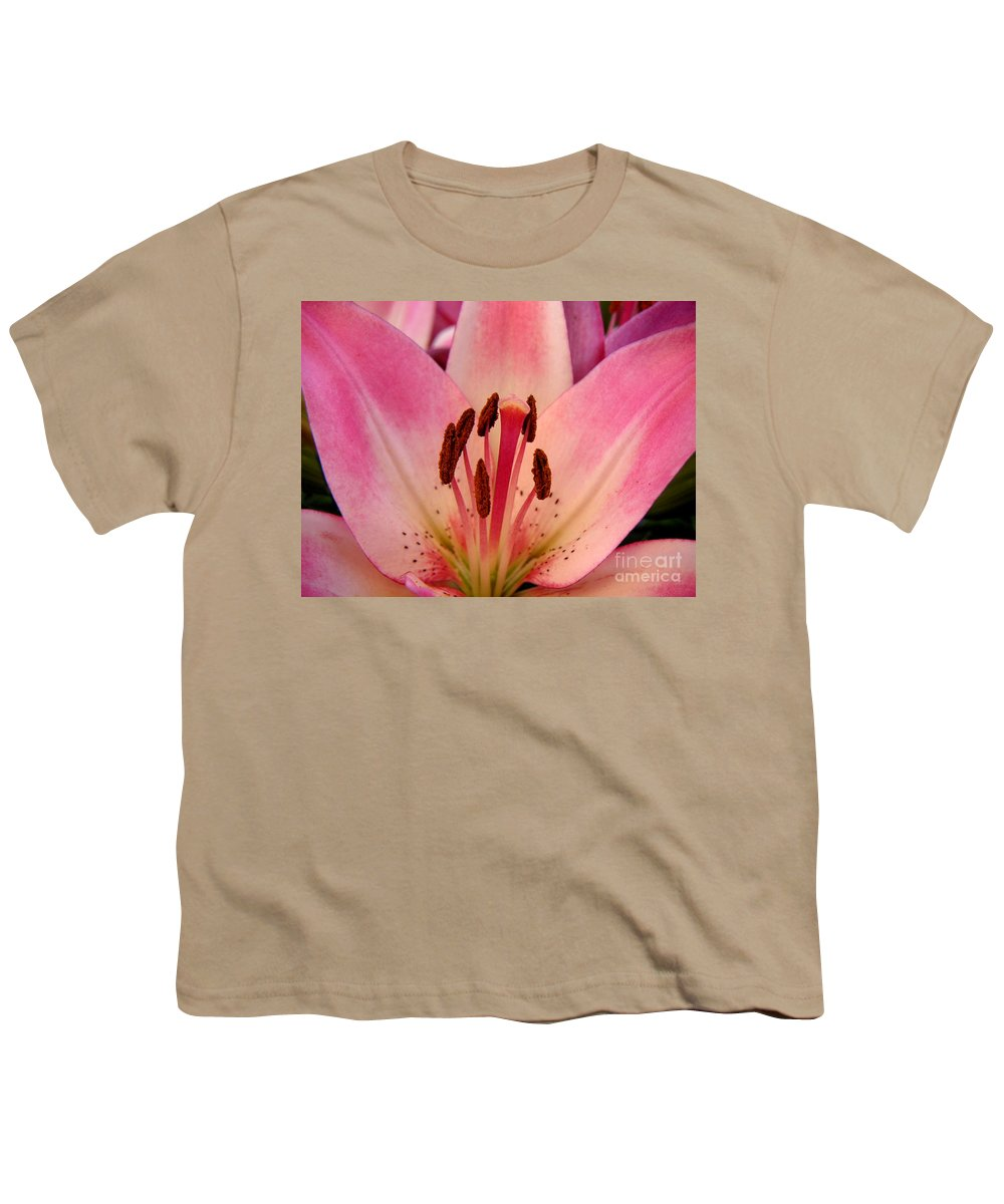 Nature Youth T-Shirt featuring the photograph Lily - An Intimate View by Lucyna A M Green