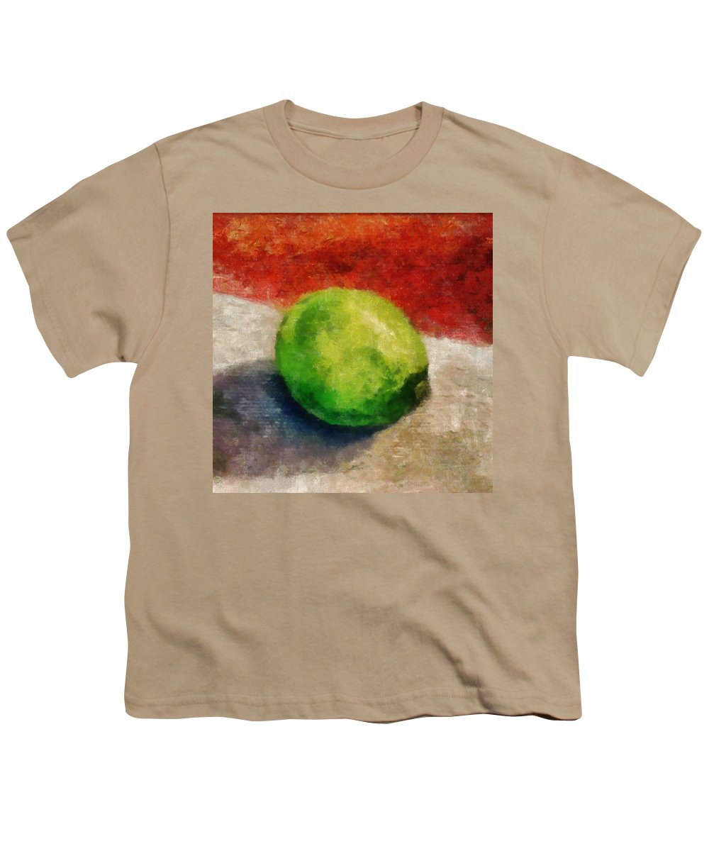 Lime Youth T-Shirt featuring the painting Lime Still Life by Michelle Calkins
