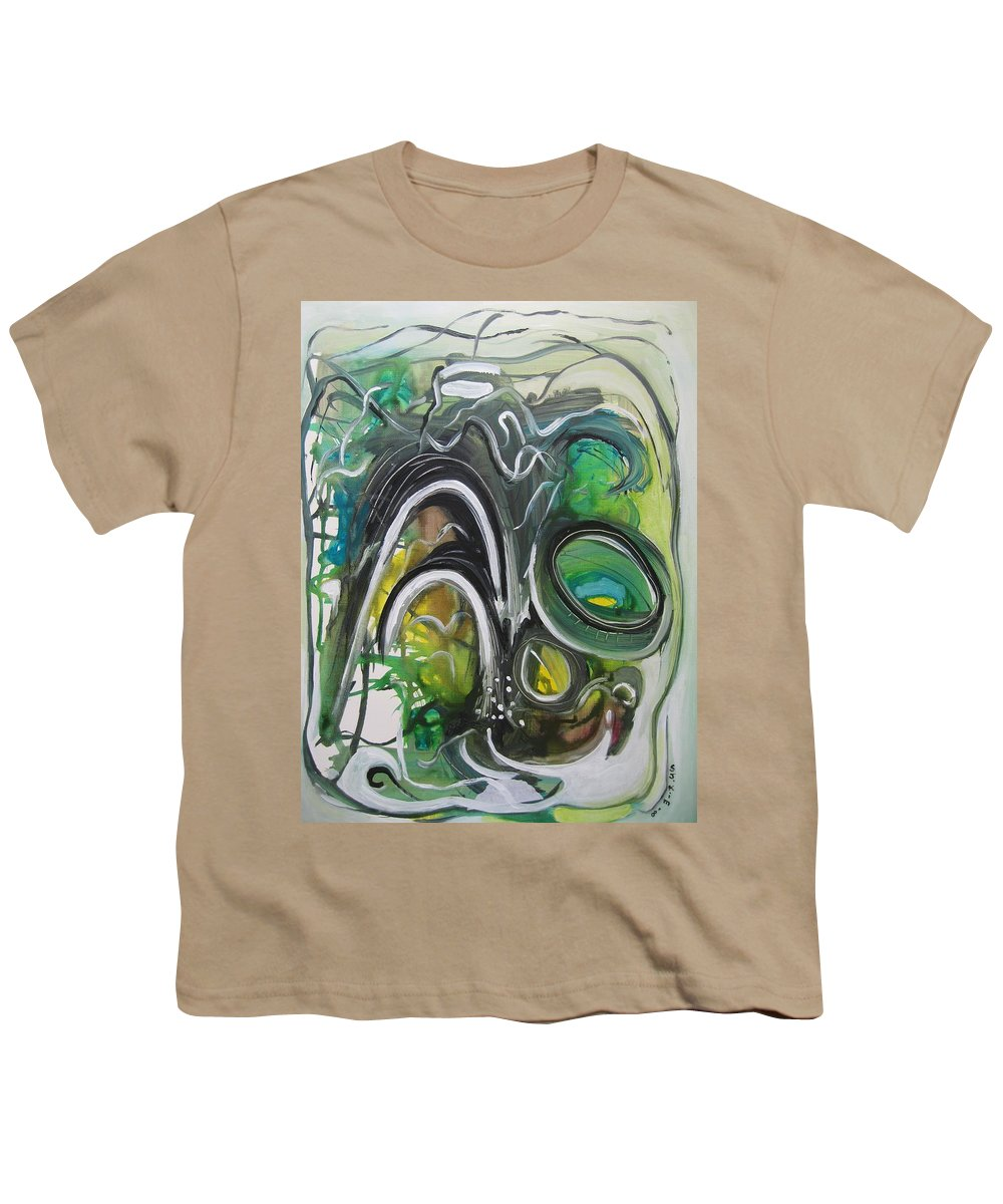 Abstract Paintings Youth T-Shirt featuring the painting little impression on Alexander trail by Seon-Jeong Kim