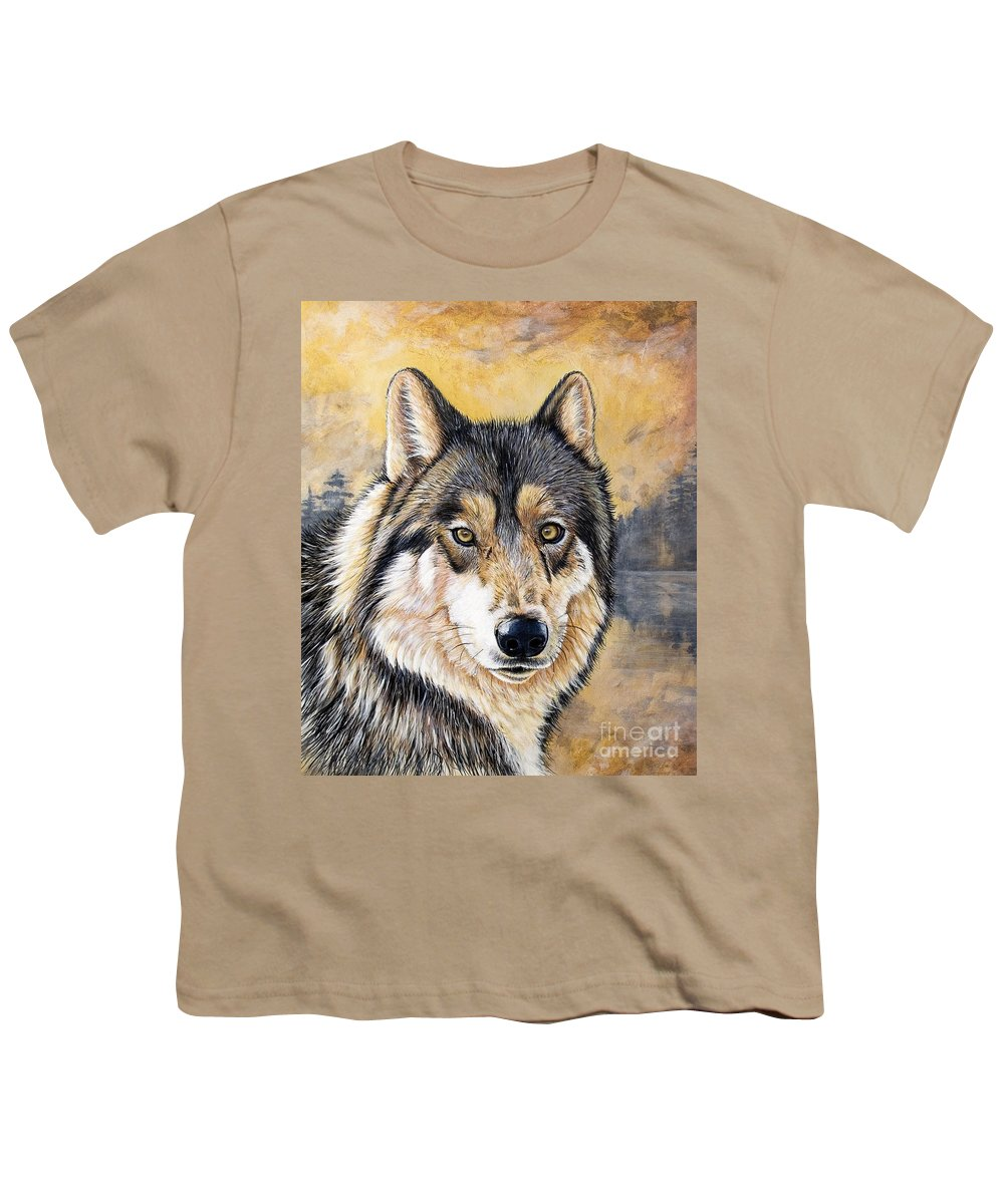 Acrylics Youth T-Shirt featuring the painting Loki by Sandi Baker