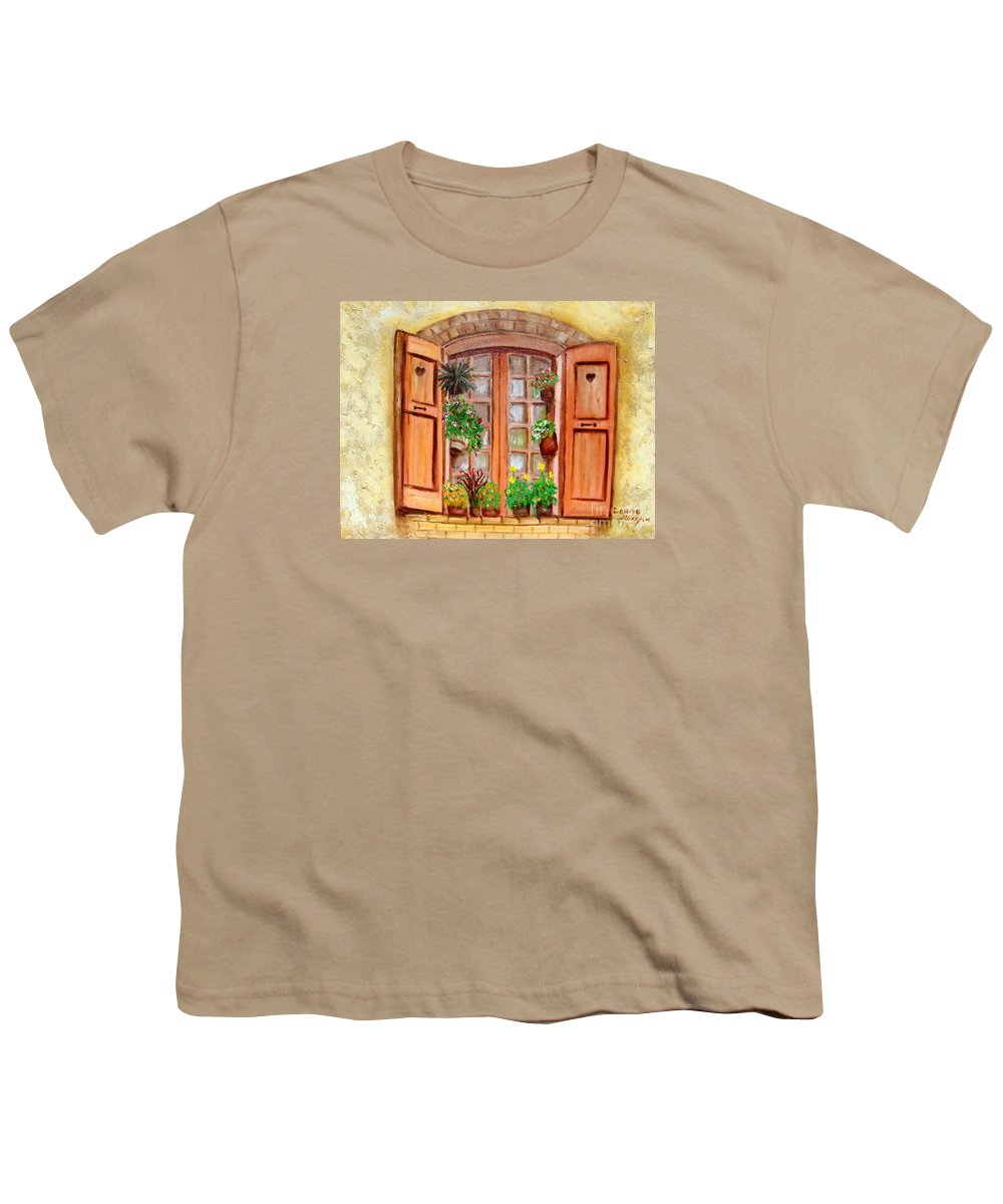 Windows Youth T-Shirt featuring the painting Love Nest by Laurie Morgan