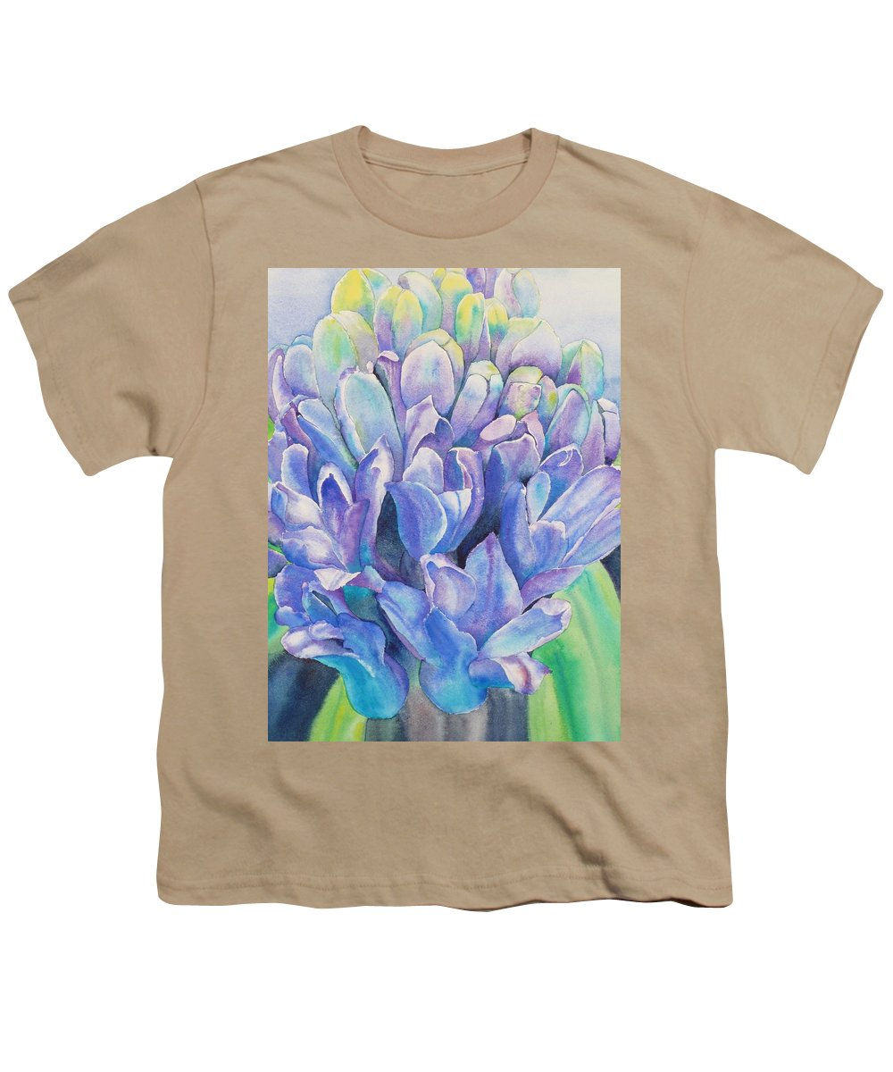 Flower Youth T-Shirt featuring the painting Lovely Lupine by Ruth Kamenev