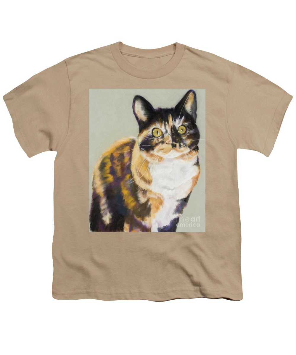Calico Youth T-Shirt featuring the painting Maggie Mae by Pat Saunders-White