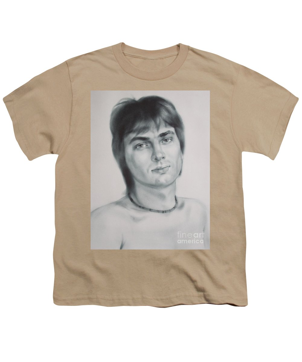 Art Youth T-Shirt featuring the drawing Man by Sergey Ignatenko