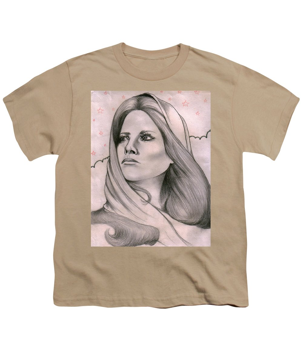 Portrait Youth T-Shirt featuring the drawing Misty by Marco Morales