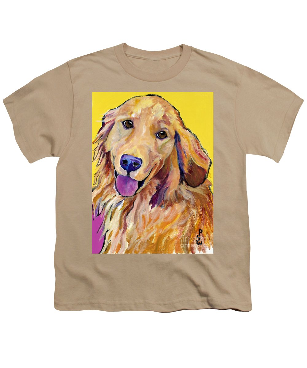 Acrylic Paintings Youth T-Shirt featuring the painting Molly by Pat Saunders-White