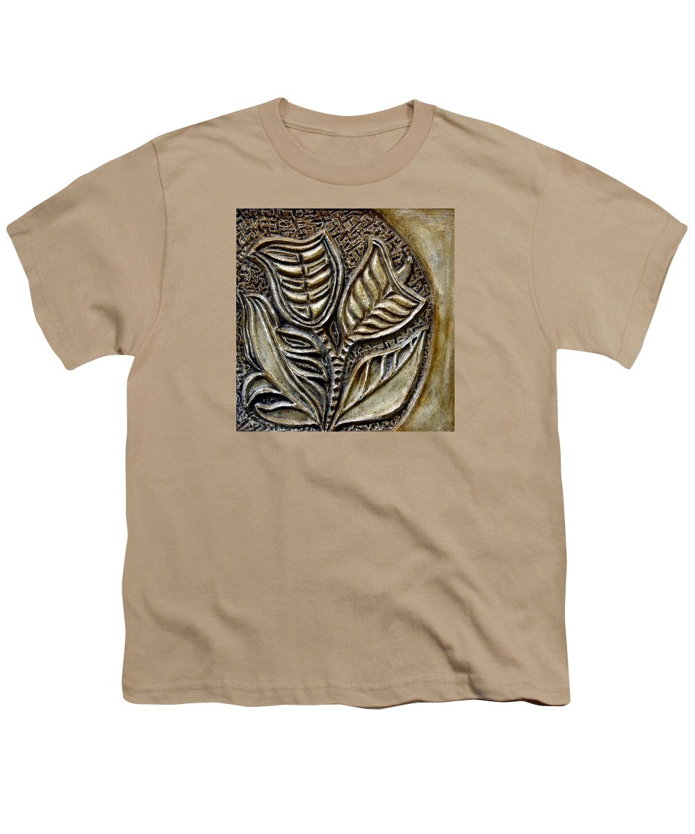 Vintaje Youth T-Shirt featuring the relief Vintaje Tile With Calas by Madalena Lobao-Tello