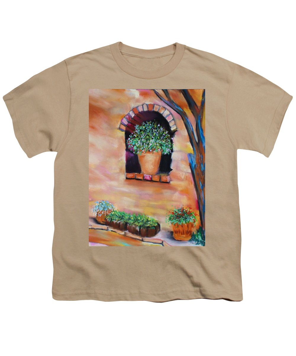 Courtyard Youth T-Shirt featuring the painting Nash's Courtyard by Melinda Etzold
