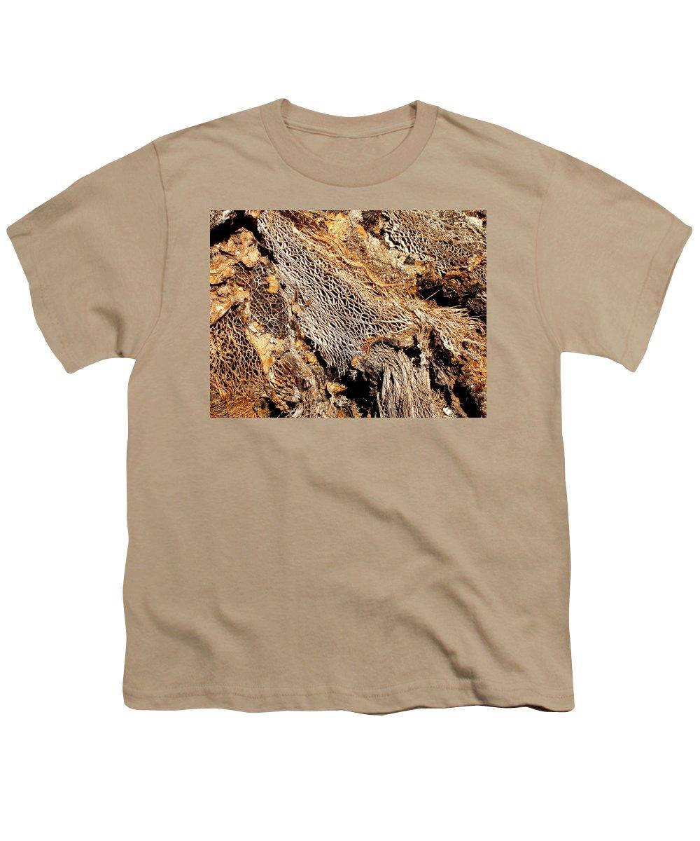 Texture Youth T-Shirt featuring the photograph Natural Textural Abstract by Wayne Potrafka