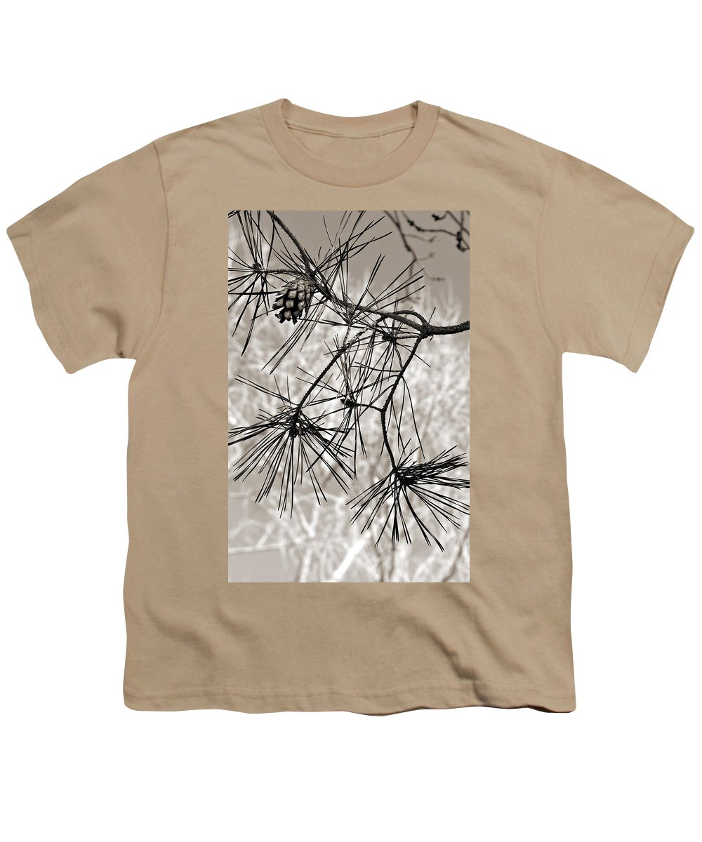 Tree Youth T-Shirt featuring the photograph Needles Everywhere by Marilyn Hunt