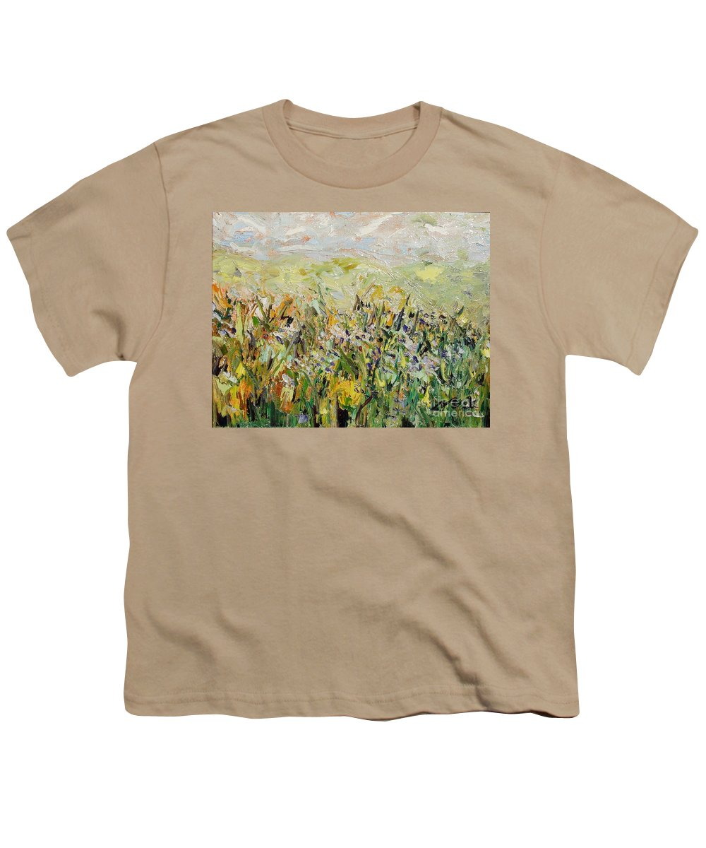 Field Paintings Youth T-Shirt featuring the painting Nose Hill by Seon-Jeong Kim