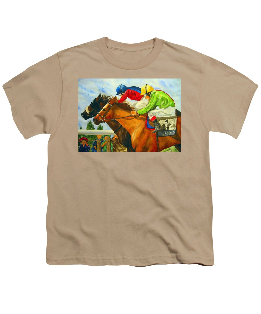 Horse Youth T-Shirt featuring the painting Nose To Nose by Jean Blackmer