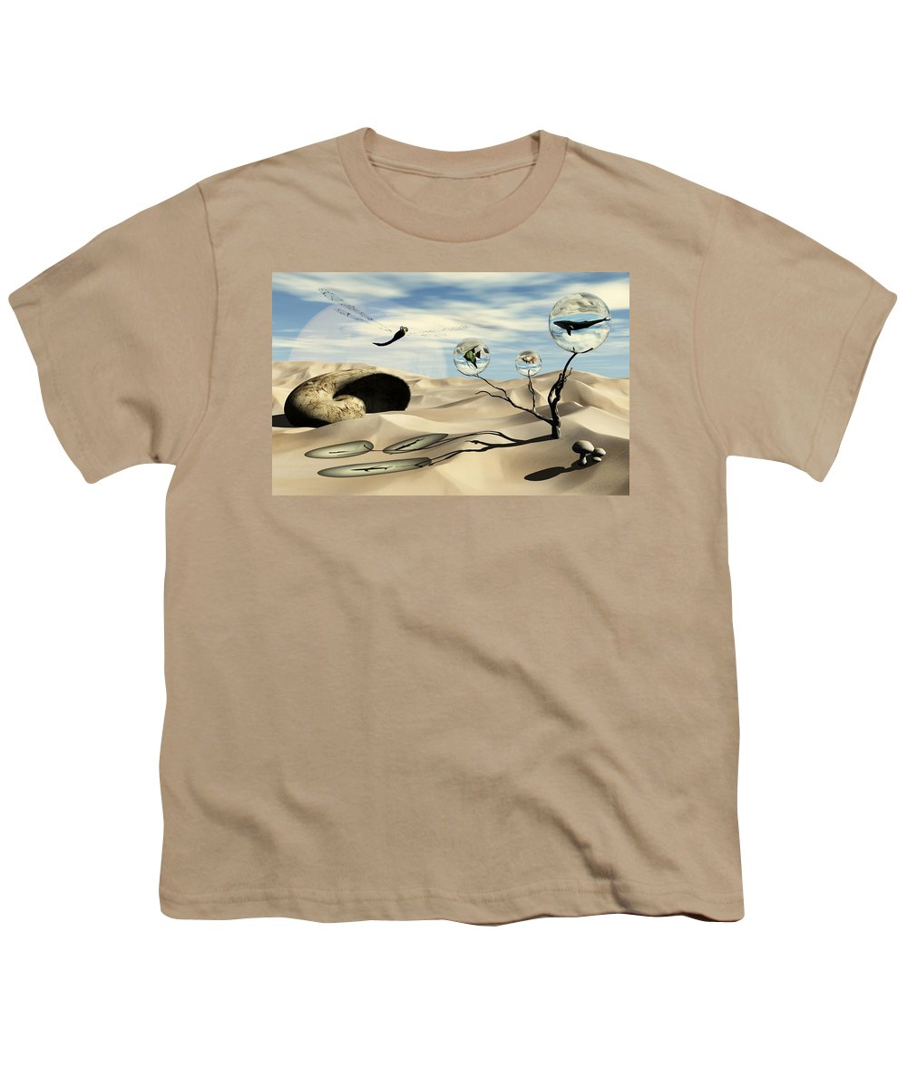 Surrealism Youth T-Shirt featuring the digital art Observations by Richard Rizzo