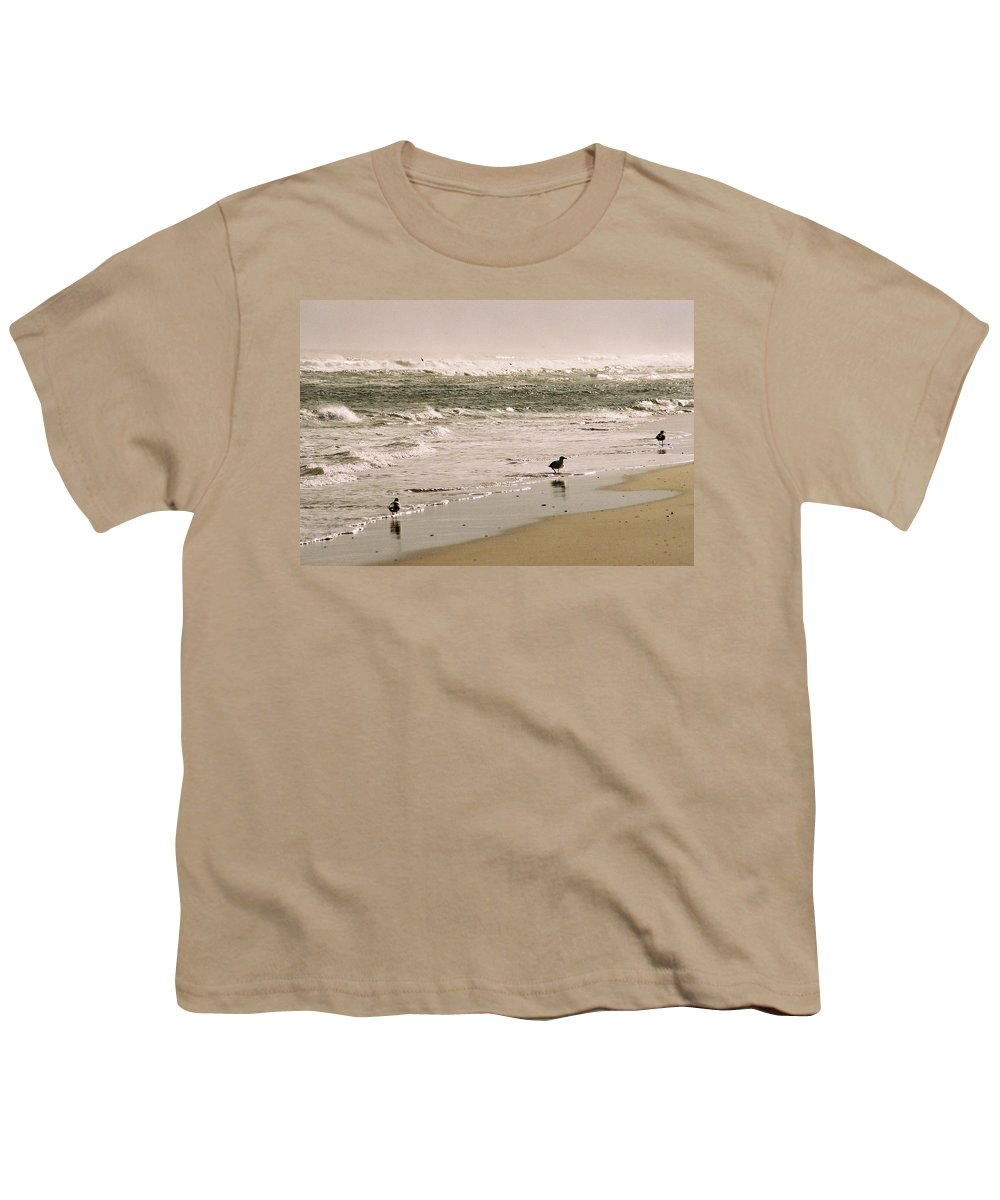 Seascape Youth T-Shirt featuring the photograph Ocean Edge by Steve Karol