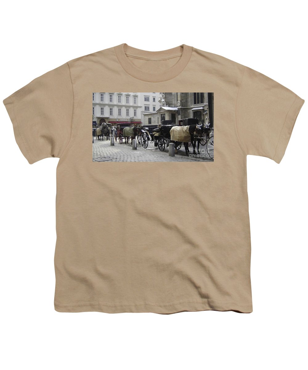 Horses Youth T-Shirt featuring the photograph On Call by Mary Rogers