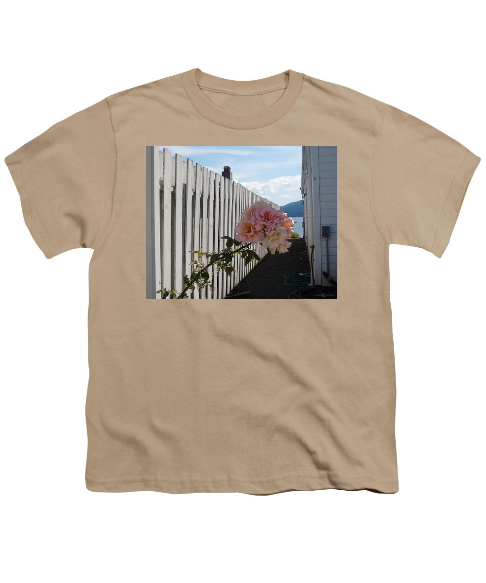 Rose Youth T-Shirt featuring the photograph Orcas Island Rose by Tim Nyberg