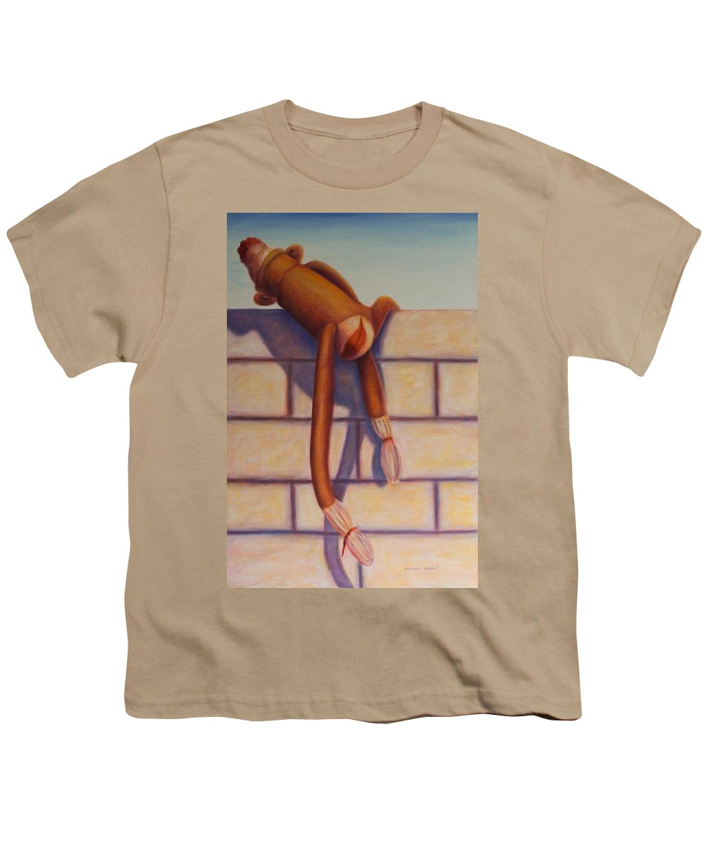 Children Youth T-Shirt featuring the painting Over The Top by Shannon Grissom