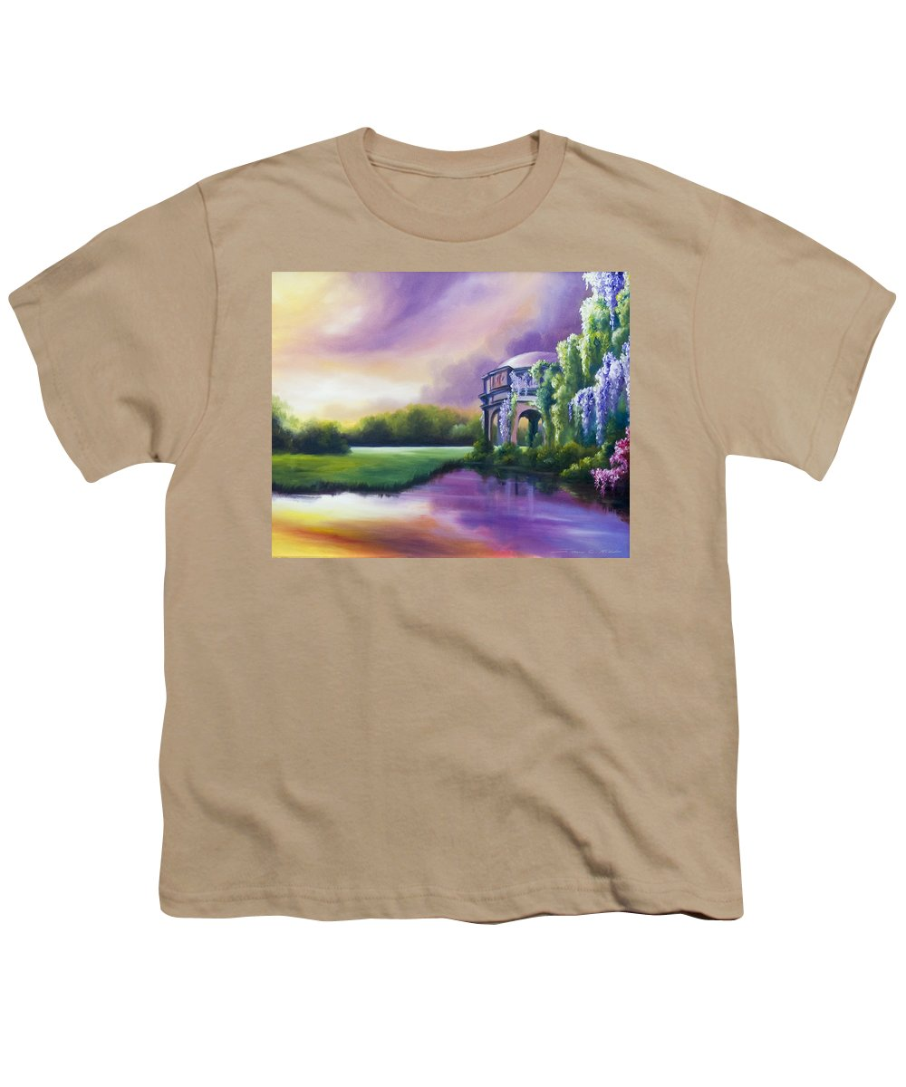 Marsh Youth T-Shirt featuring the painting Palace Of The Arts by James Christopher Hill