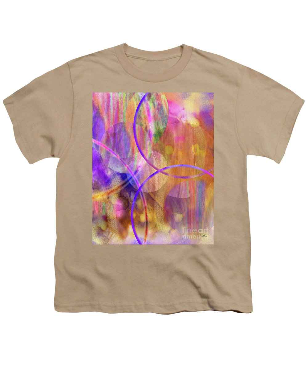 Pastel Planets Youth T-Shirt featuring the digital art Pastel Planets by John Beck