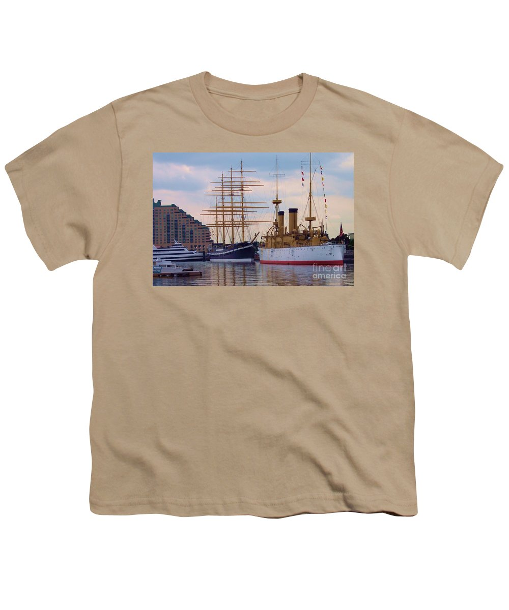 Philadelphia Youth T-Shirt featuring the photograph Philadelphia Waterfront Olympia by Debbi Granruth