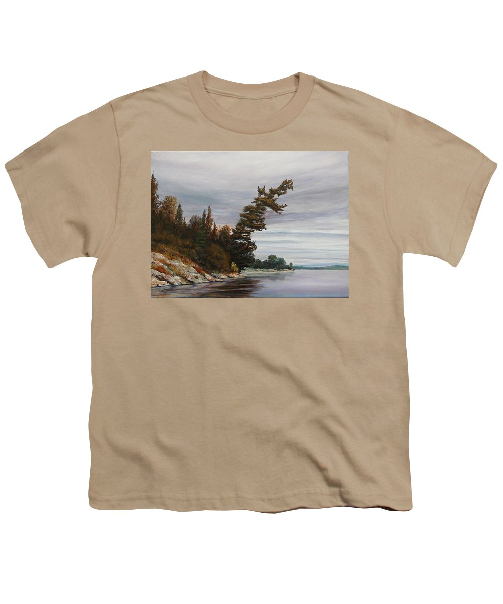 Landscape Youth T-Shirt featuring the painting Ptarmigan Bay by Ruth Kamenev