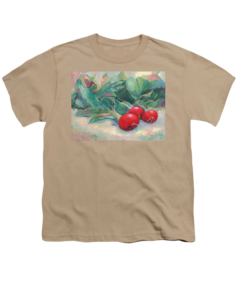 Radishes Youth T-Shirt featuring the painting Radishes by Ginger Concepcion