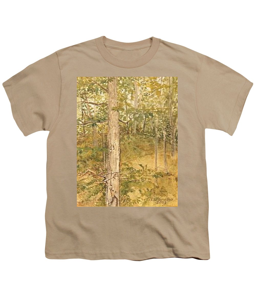 Trees Youth T-Shirt featuring the painting Raystown Lake by Leah Tomaino