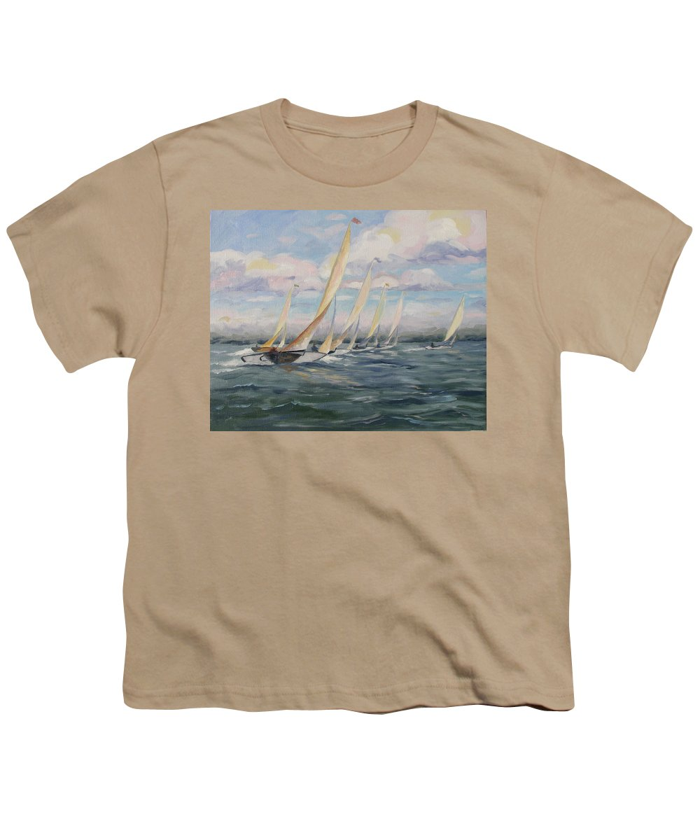 Riding Waves Youth T-Shirt featuring the painting Riding The Waves by Jay Johnson