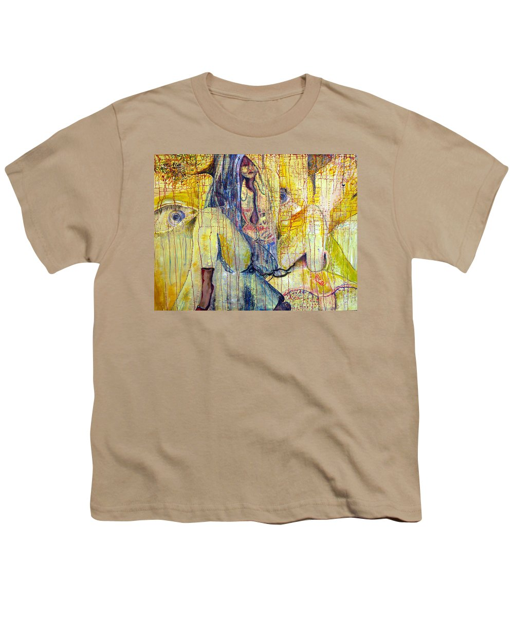 Portrait Youth T-Shirt featuring the painting Roots by Peggy Blood