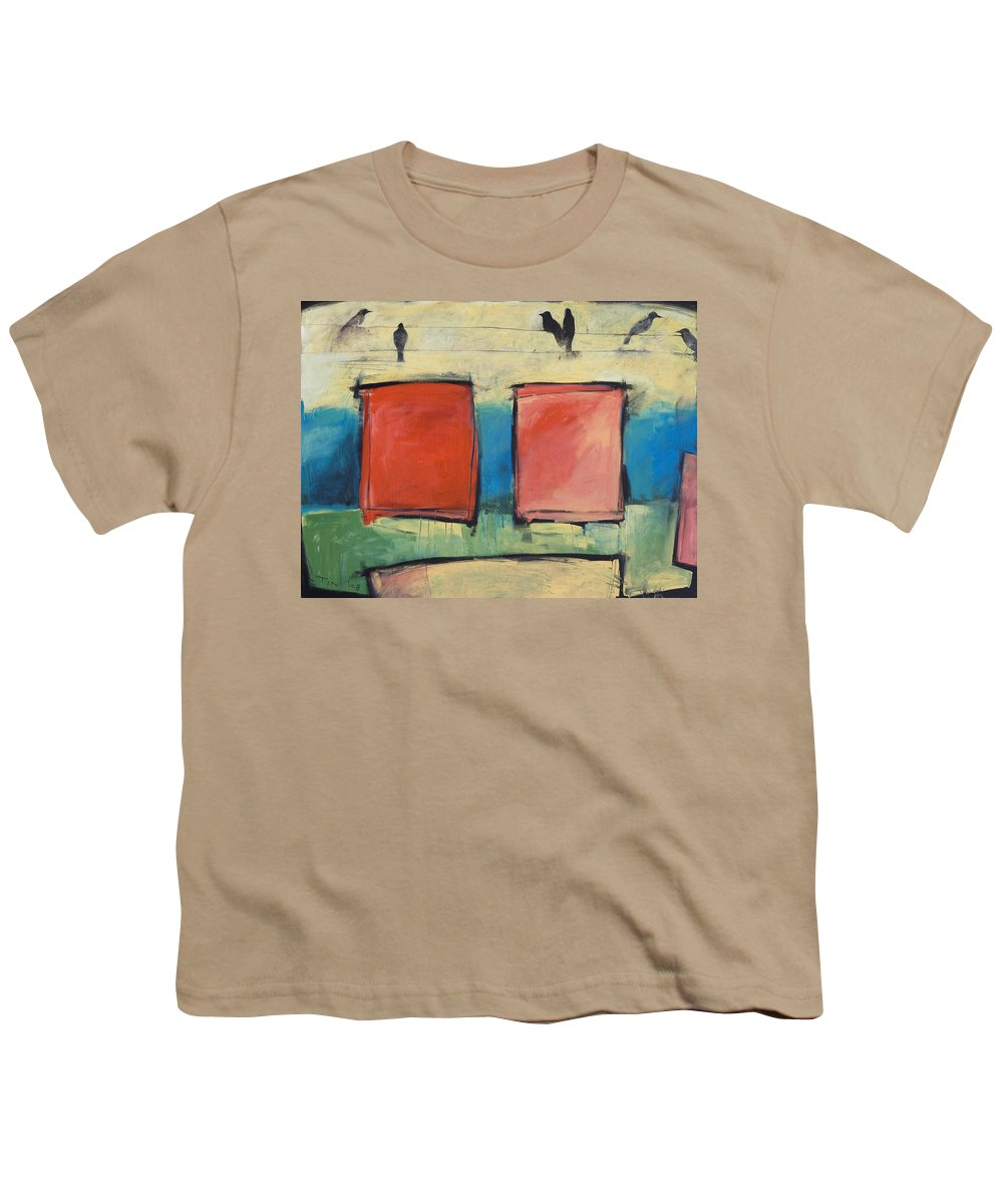 Rothko Youth T-Shirt featuring the painting Rothko Meets Hitchcock by Tim Nyberg