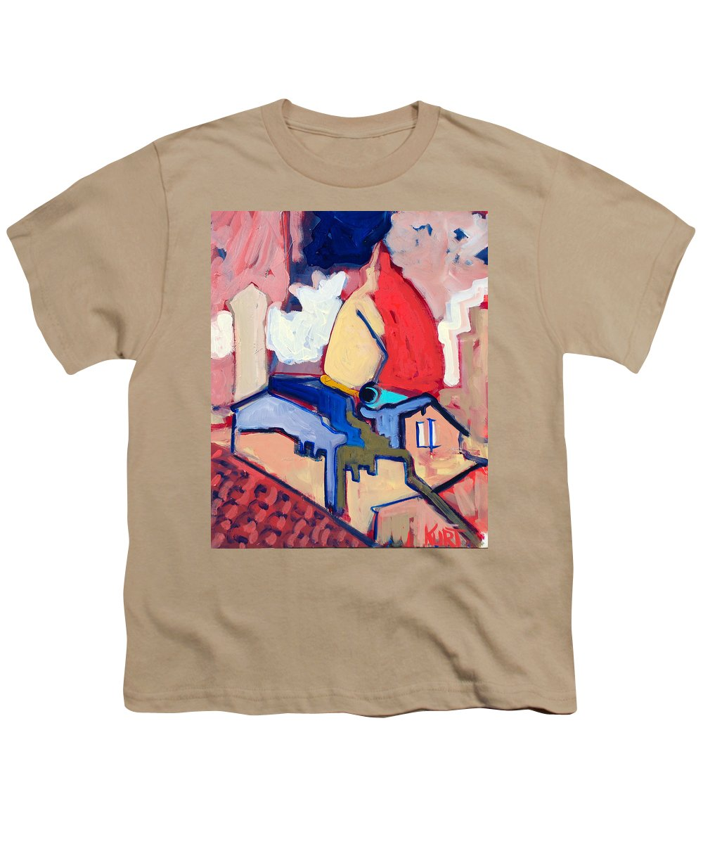Florence Youth T-Shirt featuring the painting Salutare by Kurt Hausmann