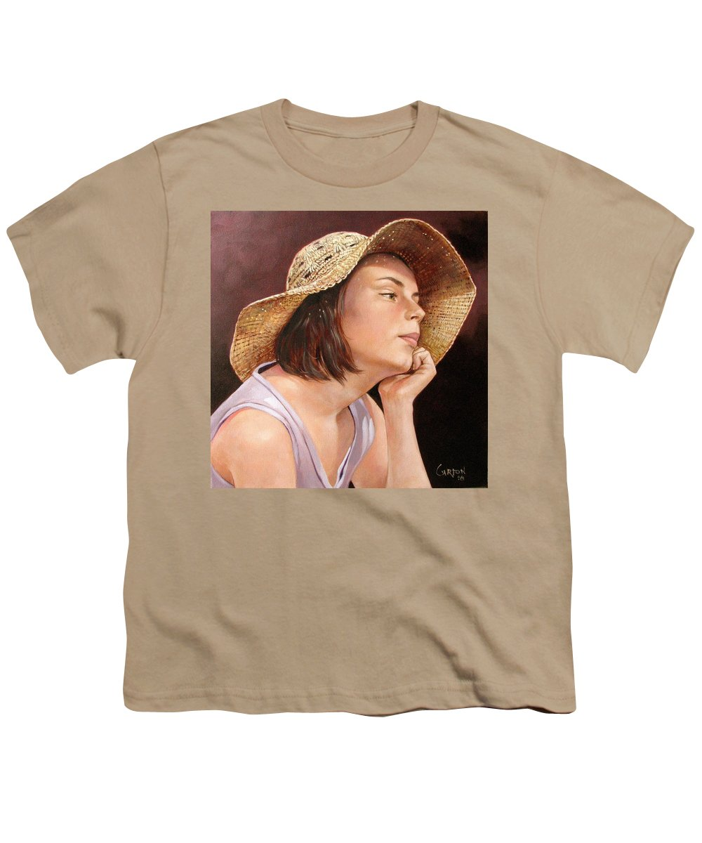 Portrait Youth T-Shirt featuring the painting Sammie by Jerrold Carton
