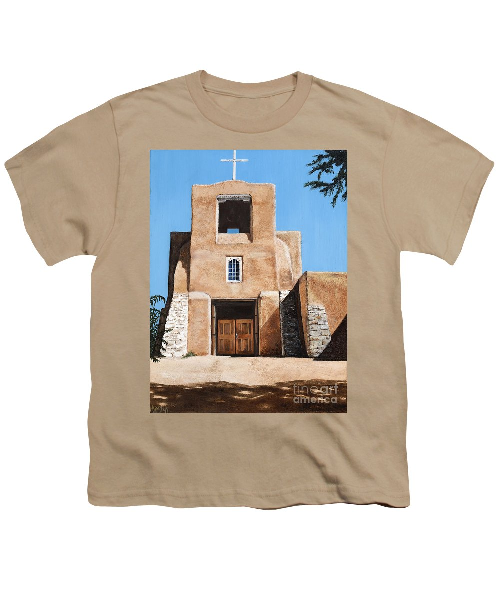 Art Youth T-Shirt featuring the painting San Miguel by Mary Rogers