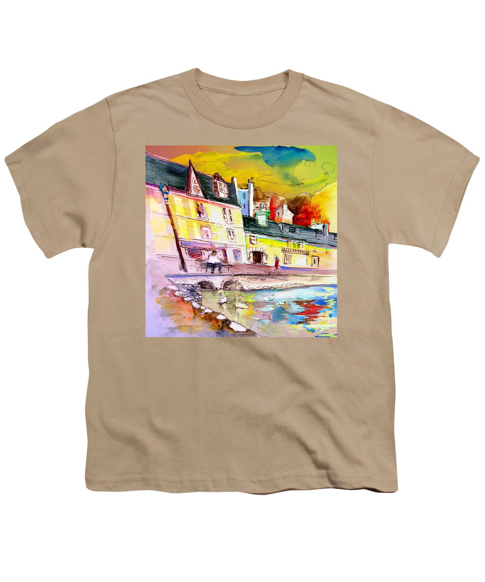 Scotland Paintings Youth T-Shirt featuring the painting Scotland 04 by Miki De Goodaboom